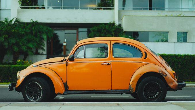 old orange vosvos