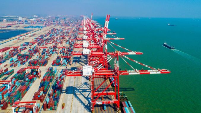 guangzhou port added rail transport to seaway