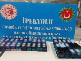 Cell phones seized for weight drugs at the habur customs door