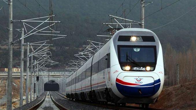 udbudsmeddelelse ispartakule cerkezkoy jernbanelinje byggeri arbejde km