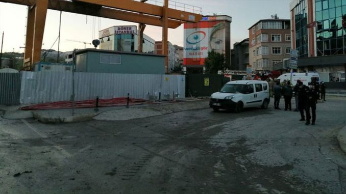 blasting in the subway construction in Istanbul, the windows of the workplace and houses were broken