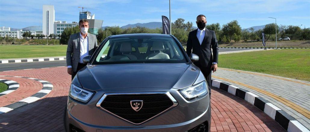 Kktc deputy prime minister tested arikli domestic car gun