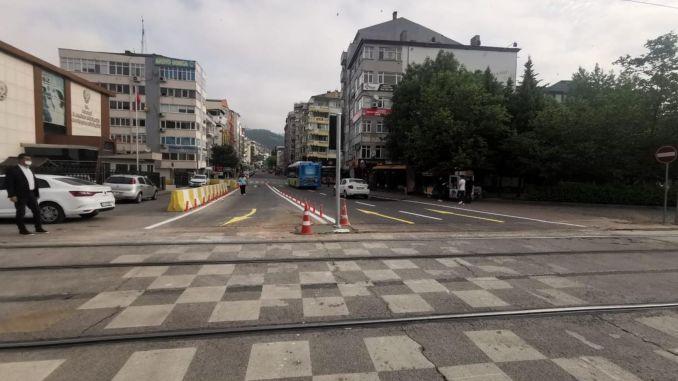 Kocaeli Leyla Atakan Street has been reorganized with double lanes