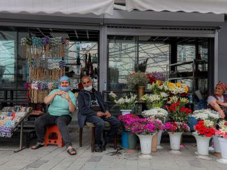 Taksim flowers moved to their new location designed for them