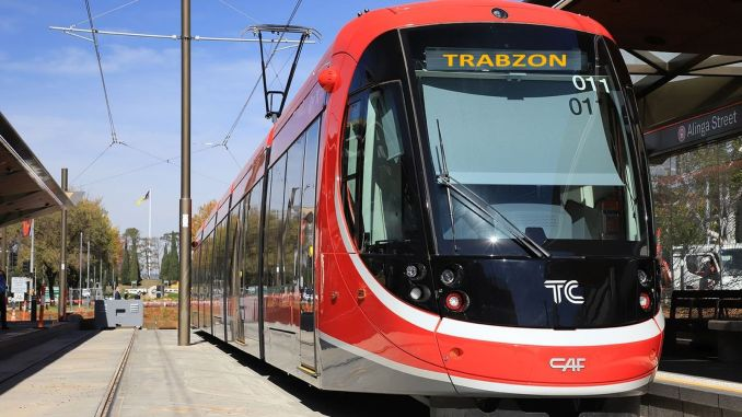 development in trabzon light rail system project