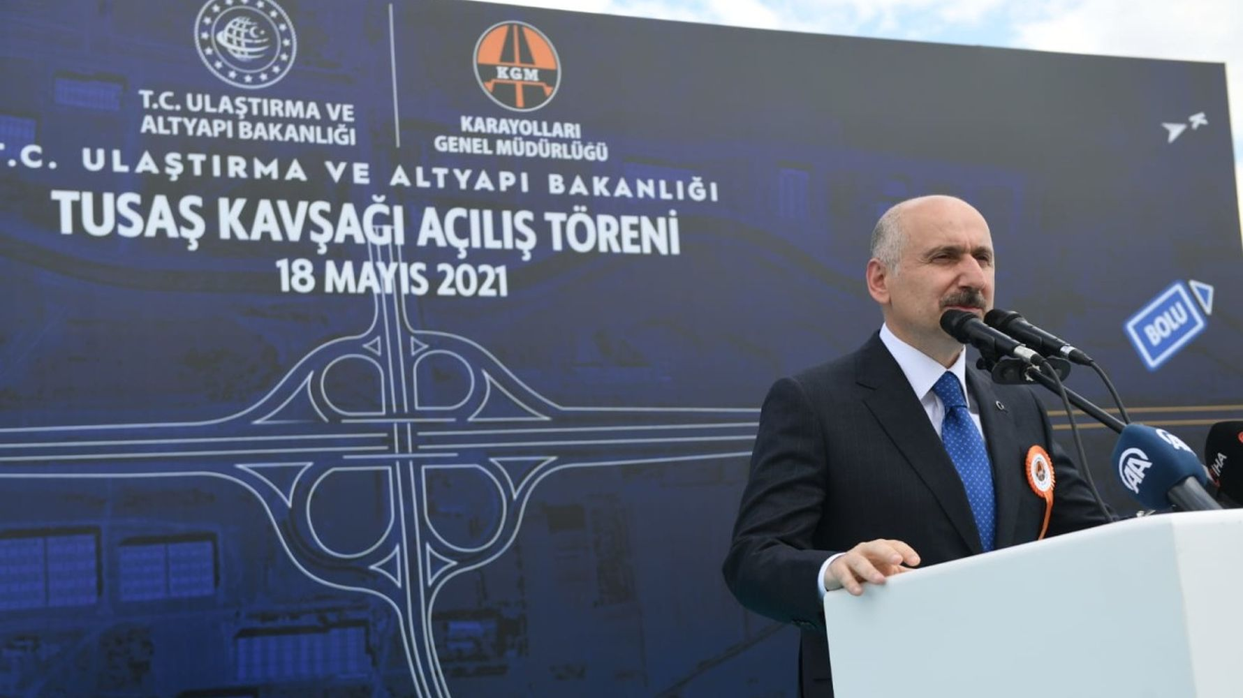 Turkish aviation and space industry bridge intersection was put into service