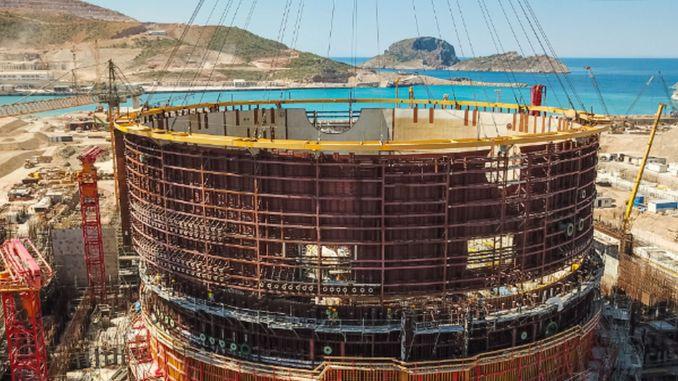 Akkuyu NPP's Pearl Unit Reactor Building hævet meter på en dag