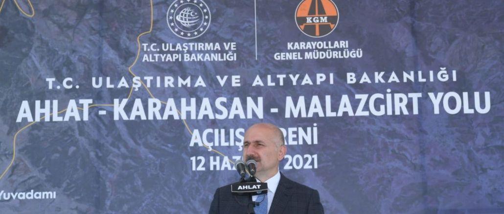 ahlat karahasan malazgirt road opened for service