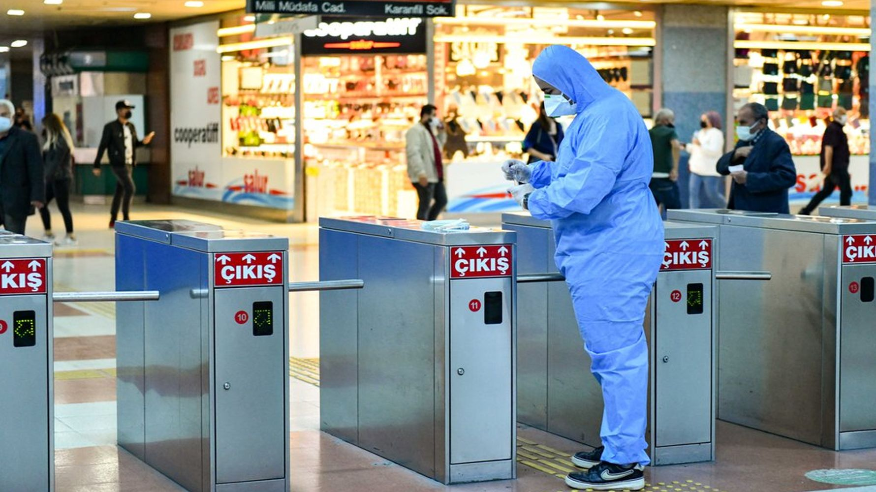 Hygiene test was carried out in Ankara metro
