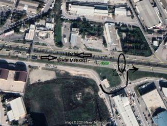 trafikarrangement på bursa izmir road og ata boulevard