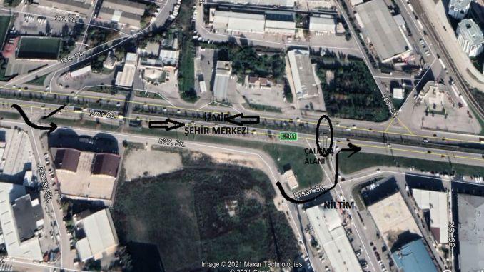 traffic arrangement on bursa izmir road and ata boulevard