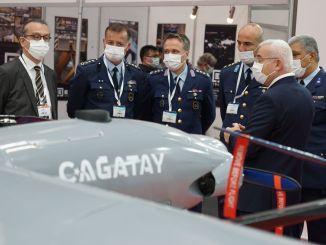 ระบบ cagatay cgt UAV แสดงเป็นครั้งแรกใน Eskisehir
