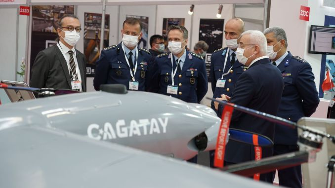 The cagatay cgt UAV system is exhibited for the first time in Eskisehir