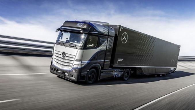 daimler trucks begins extensive testing of fuel cell mercedes benz genh truck