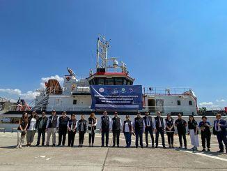 Le navire tubitak mam, qui dessinera la carte des tremblements de terre de la mer Égée, a commencé son expédition.