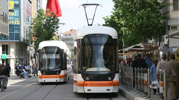 lgs arrangement for tram and bus services in Eskisehir