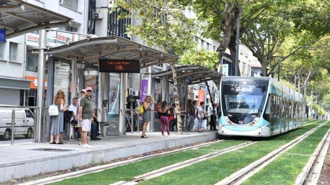 Free internet period begins in izmir trams