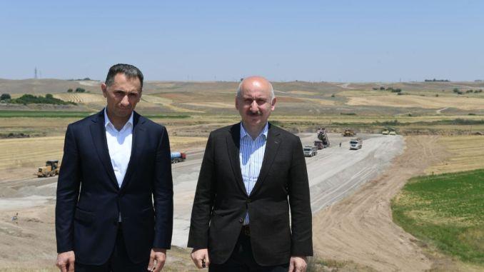 Karaismailoglu examined the work of the freeway in carabag