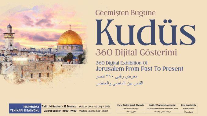 Jerusalem Digital Screening Opened to Visitors at Marmaray Yenikapı Station