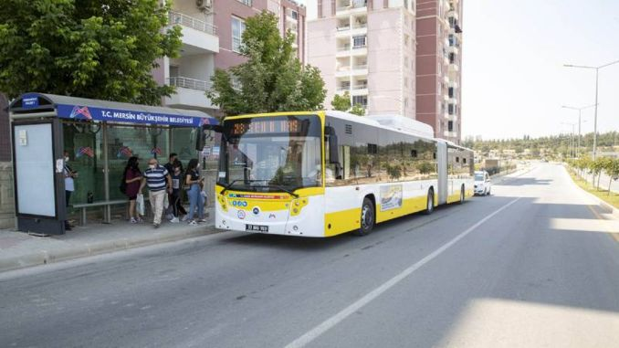 call for public transport over and under the age of mersin metropolitan