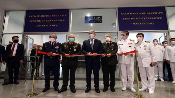 """buvo atidaryta """"nato"""" jūrų saugumo kompetencijos centro vadovybė"""
