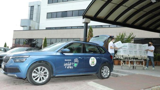 سيارة سكودا الخيرية في خدمة الاطفال المصابين بالسرطان