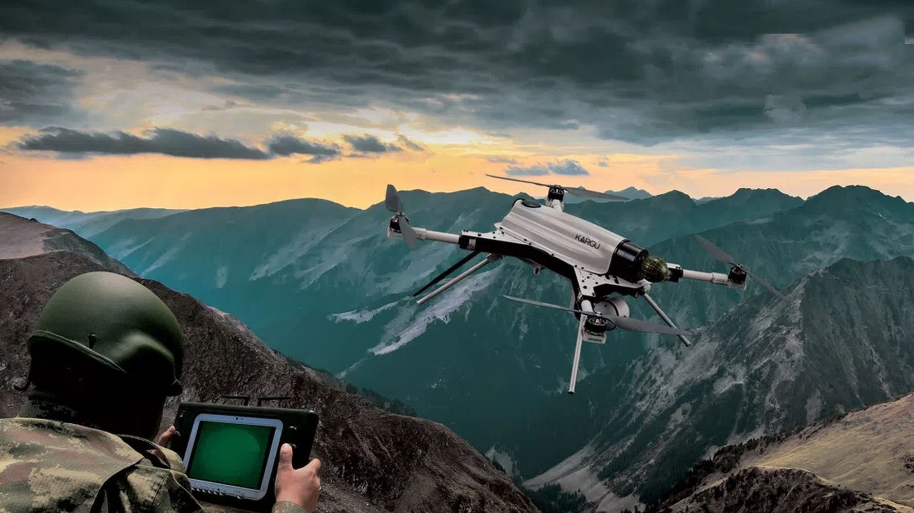 Turkish made drone kargu uav detects and destroys the enemy with smart algorithm