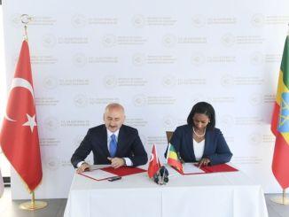 تم توقيع مذكرة تفاهم بين تركيا وإثيوبيا في مجال النقل