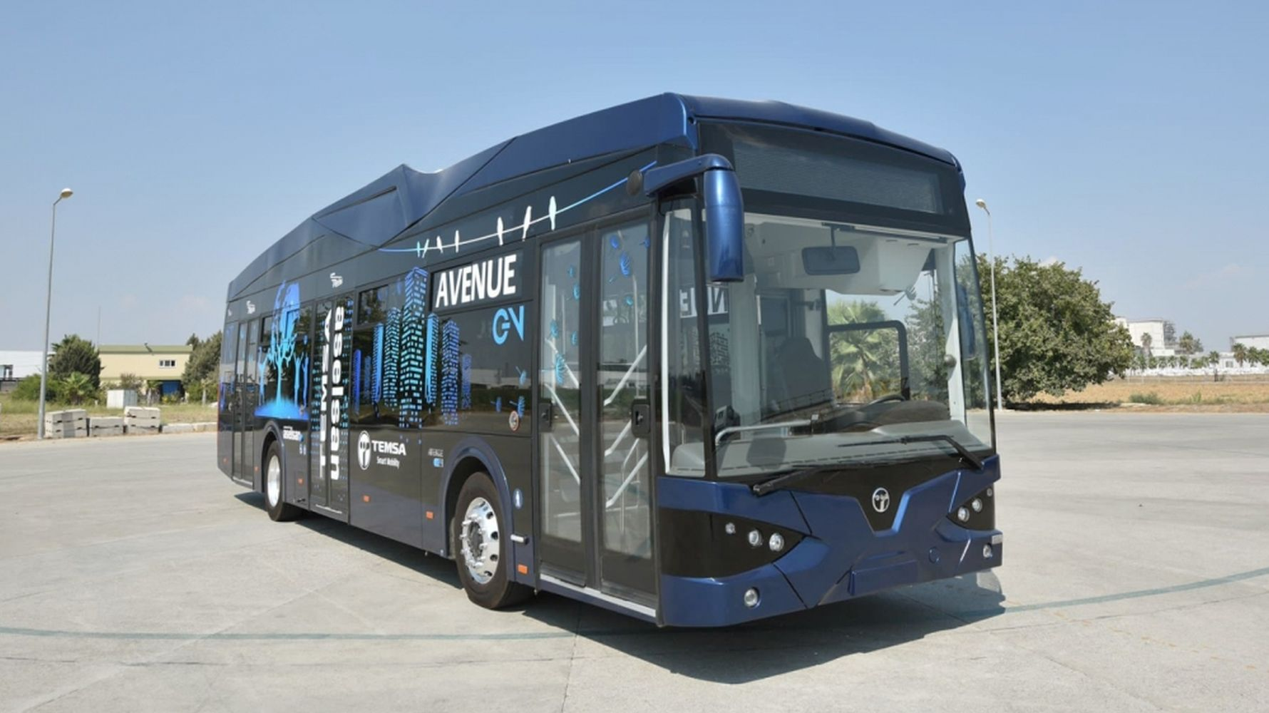 The first lithium battery-powered electric bus will come to life in Samsun turkiyede