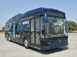 Pirmasis ličio baterijomis varomas elektrinis autobusas atgyja Samsuno turkiede