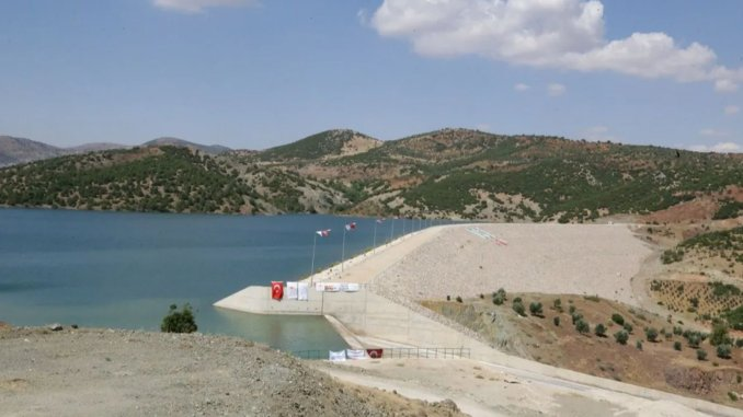 Yukarı afrin dam and drinking water transmission line came into service with ceremony