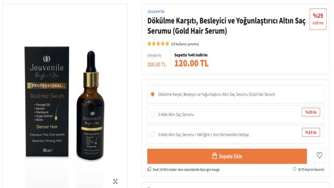 Anti-texture hair serum