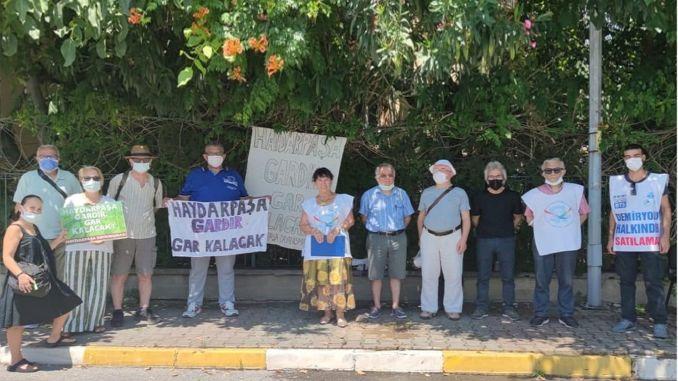Der Bahnhof Haydarpasa kann nicht für Haydarpasa Solidarity geschlossen werden
