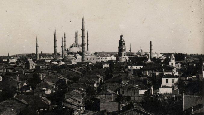 Historical Edirne Clock Tower Destroyed