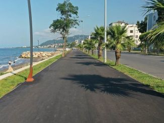 Unye Bicycle and Yuruyus Road Project Neared to End