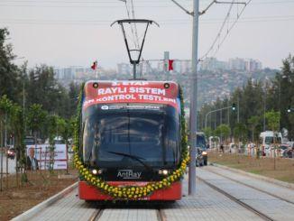 تم إجراء اختبار القيادة المسبقة لنظام السكك الحديدية في أنطاليا