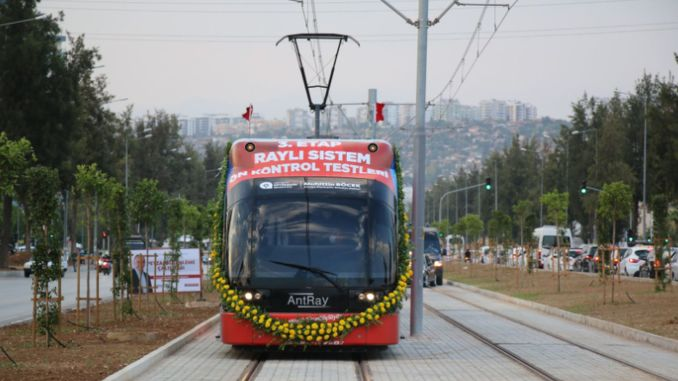 The pre-control test drive of the antalya stage rail system was made