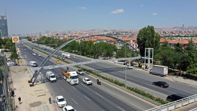 A new pedestrian overpass will be built to the point in the capital