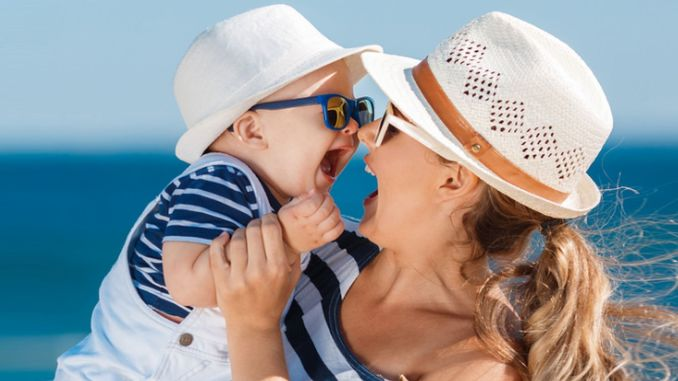 How should babies be protected from the sun?