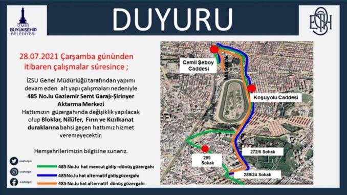 temporary traffic regulation in buca
