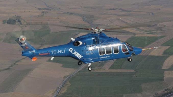The full-length static test of the gokbey helicopter continues
