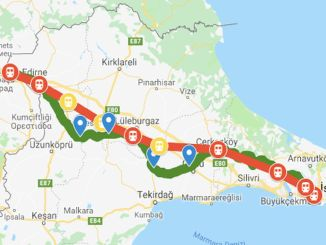 مشروع سكة حديد Halkalı Kapikule قيد الإنشاء