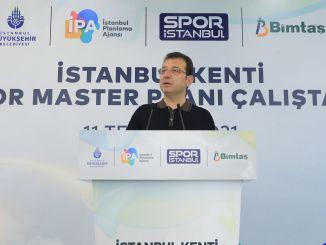 imamoglu je govorio na radionici master plana gradskog sporta u Istanbulu