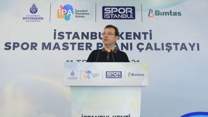 imamoglu spoke at istanbul city sports master plan workshop