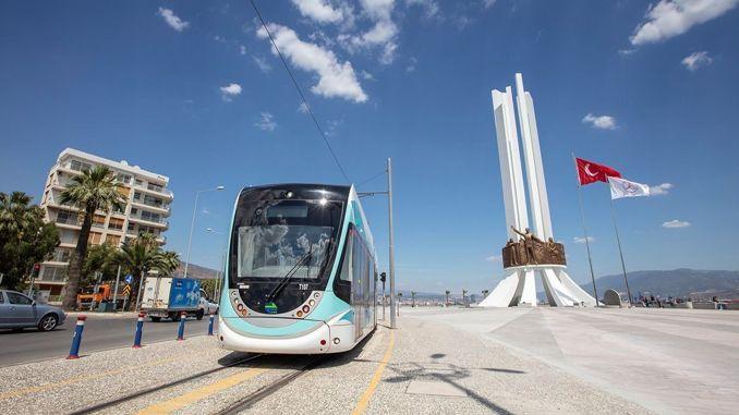 Als Ergebnis der Ausschreibung für den Kauf von Fahrzeugen der Straßenbahnlinie izmir cigli