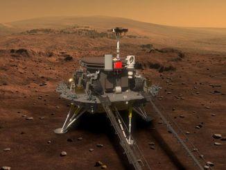 مواصلة دراسته على المريخ ، اجتاز zhurong العداد
