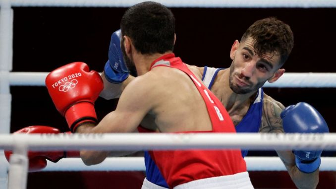 national boxer batuhan farmer was eliminated from the olympic games