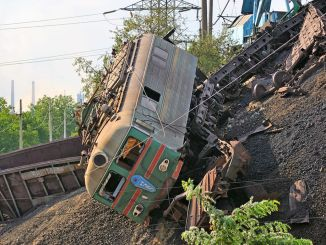 В России столкнулись два грузовых поезда