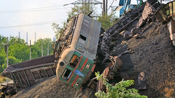 Two freight trains collided in Russia