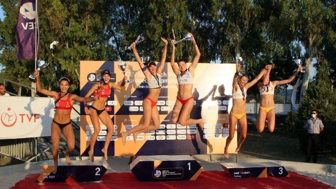 u russia and slovenia win the beach volleyball european championship